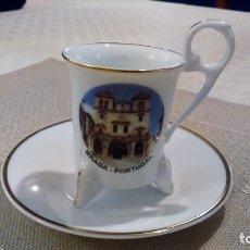 Segunda Mano: TAZA DE CAFÉ CON UNA IMAGEN SANTUARIO DE SAMEIRO EN BRAGA (PORTUGAL), EN PORCELANA.. Lote 117454587