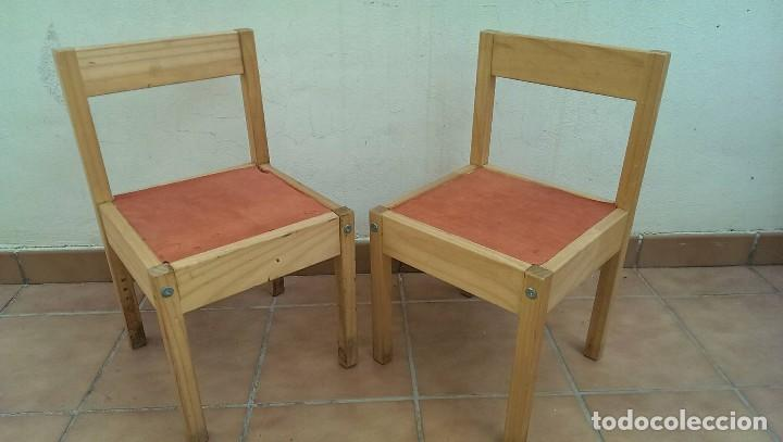 Lote 2 sillas infantiles para ni os en madera s comprar for Sillas vintage segunda mano
