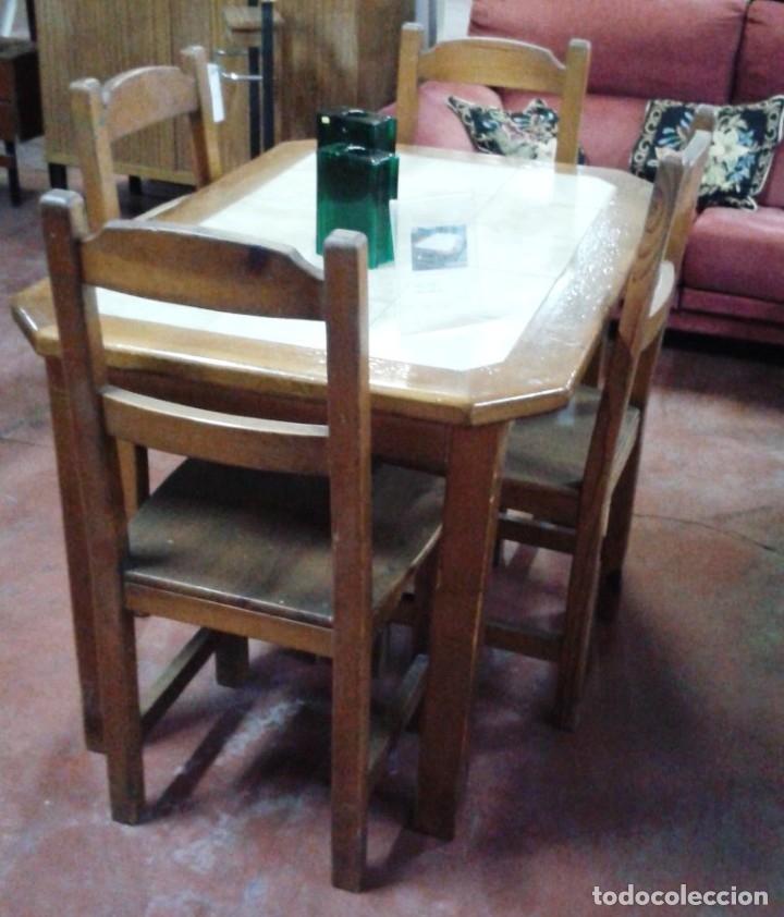 mesa cocina madera baldosin ceramico con 4 sill - Comprar artículos ...