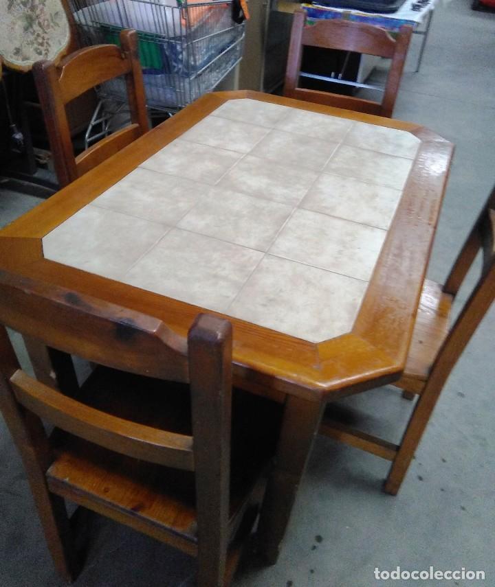 mesa cocina madera baldosin ceramico con 4 sill - Kaufen Artikel für ...