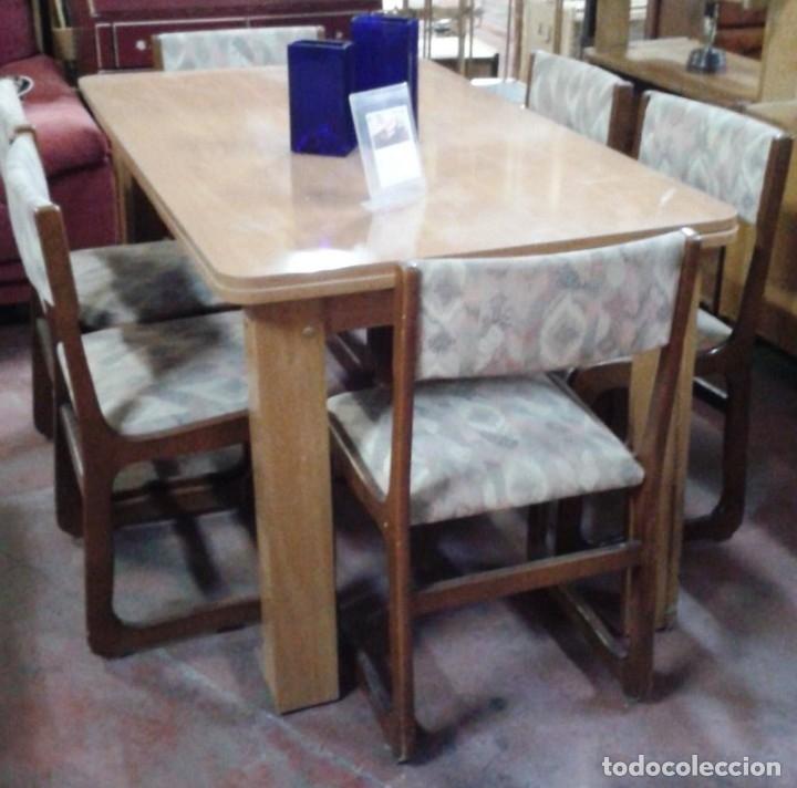mesa comedor extensible con seis sillas tapizad - Comprar artículos ...