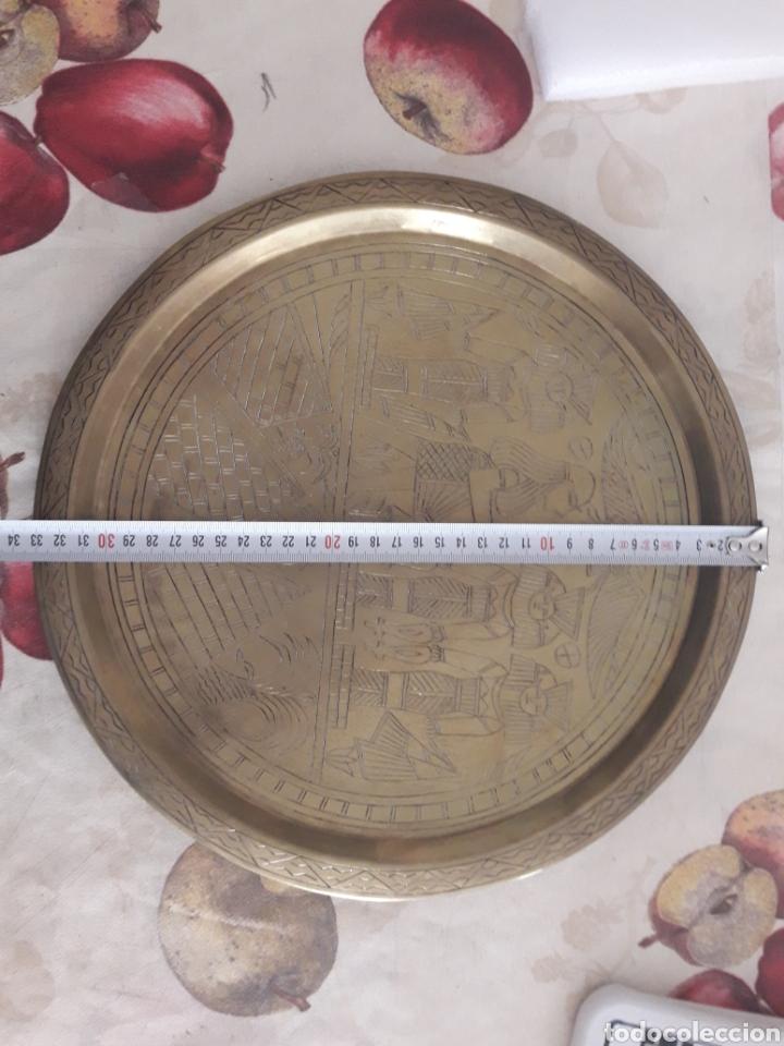Segunda Mano: Plato metálico Egipto. - Foto 4 - 120562251