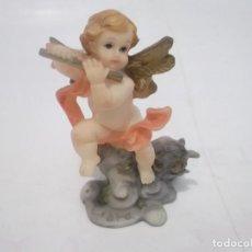 Segunda Mano: FIGURA ANGELITO CON FLAUTA Y HOROSCOPO LIBRA. Lote 120864547