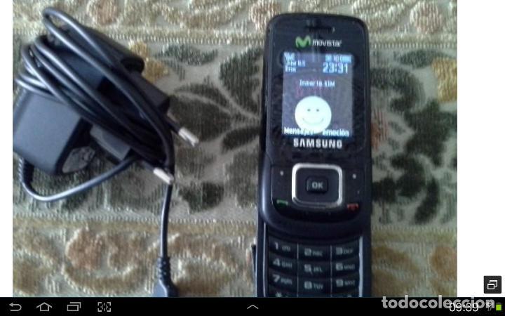 ANTIGUO TELEFONO MOVIL FUNCIONANDO CON CARGADOR SAMSUNG (Segunda Mano - Artículos de electrónica)
