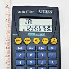 Segunda Mano: CALCULADORA CITIZEN DE-210 CONVERSORA DE EUROS 10 DIGITOS.. Lote 121597247