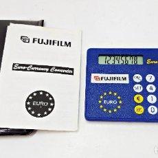 Segunda Mano: CALCULADORA FUJIFILM. TIPO TARJETA CONVERSORA DE EUROS 8 DIGITOS.. Lote 121597979