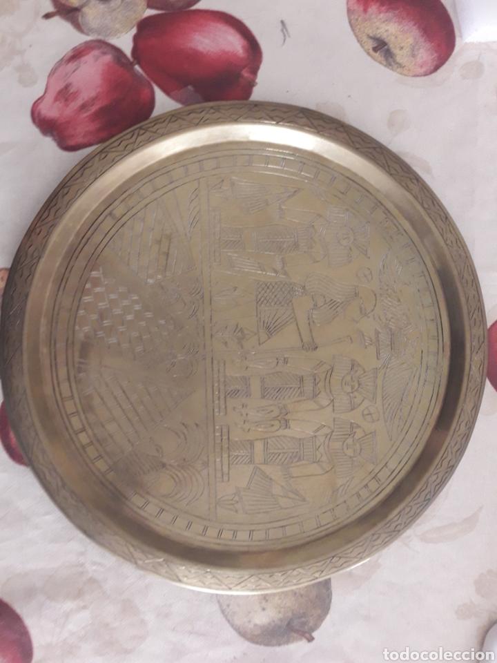 Segunda Mano: Plato metálico Egipto. - Foto 2 - 120562251