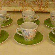 Segunda Mano: JUEGO DE 6 TAZAS Y 6 PLATOS DE CAFÉ DE PORCELANA. MARCA RETSCH. BAVARIA. GERMANY. Lote 122957703