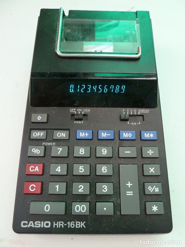 CALCULADORA CASIO HR-16BK (Segunda Mano - Artículos de electrónica)