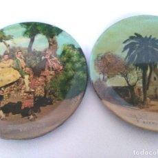 Zweite Hand - Lote de 2 platos plastico duro, Motivos de Valencia - 123383543