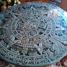 Segunda Mano: MESA DE PIEDRA CALENDARIO AZTECA.. Lote 125244707