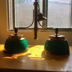 Segunda Mano: LAMPARA DOBLE TIPO BILLAR. Lote 126865047