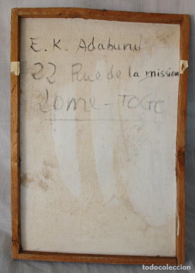 Segunda Mano: CUADRO DE E. K. ADABUNU (TOGO) - Foto 4 - 126930571