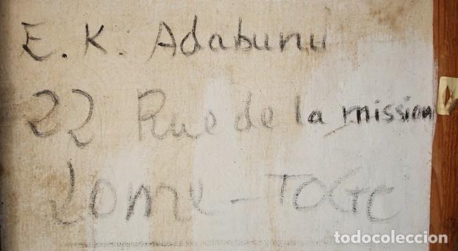 Segunda Mano: CUADRO DE E. K. ADABUNU (TOGO) - Foto 5 - 126930571