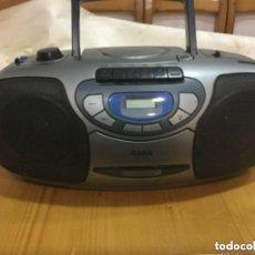 Segunda Mano: RADIO CASSETTE CD PORTATIL MARCA SABA RCD 513-S A CORRIENTE Y A PILAS. Lote 128639999