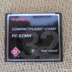 Segunda Mão: GENUINE CANON FC-32MH 32MB HIGH SPEED COMPACT FLASH MEMORY CARD. Lote 129168827