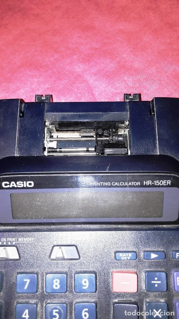 Segunda Mano: CALCULADORA CASIO CIENTIFICA HR-150ER CON SOPORTE PARA PAPEL - Foto 4 - 129170895