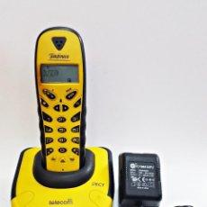 Segunda Mano: TELEFONO INALAMBRICO TELECOM DECT DCT-830 PLUS NEGRO/AMARILLO.. Lote 131284667