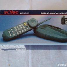 Segunda Mano: 22-TELEFONO INALAMBRICO MULTICANAL NEGRO SOLAC TELECOM. Lote 132152854