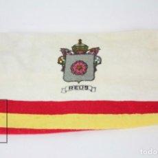 Segunda Mano: TOALLA - ESCUDO DE REUS Y BANDERA CATALUÑA - TOALLAS EL OSO, BARCELONA. Lote 132300942
