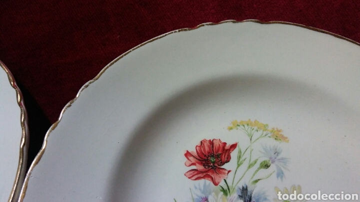 Segunda Mano: Dos platos de porcelana francesa de la casa Moulin des Loups - Foto 2 - 132323545