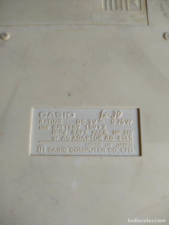 Segunda Mano: Calculadora Casio FX-39 scientific calculator, made in Japan - Foto 3 - 132662454