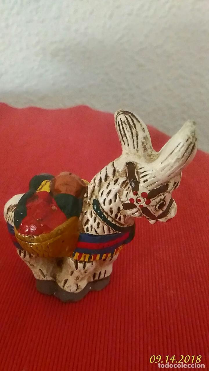 Segunda Mano: Figura de burro. Burrito. Ceramica, decoración vintage. - Foto 2 - 133548546