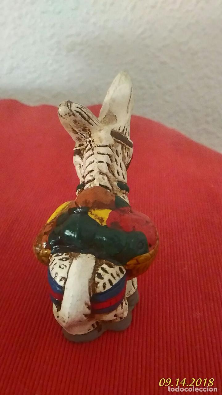 Segunda Mano: Figura de burro. Burrito. Ceramica, decoración vintage. - Foto 3 - 133548546