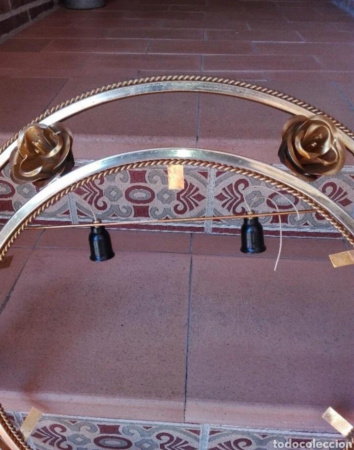 Segunda Mano: Marco espejo en metal con apliques de luz - Foto 2 - 133779939