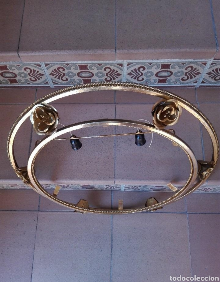 Segunda Mano: Marco espejo en metal con apliques de luz - Foto 3 - 133779939
