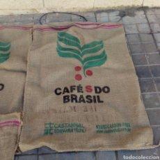 Segunda Mano: LOTE DE SIETE SACOS SACO YUTE ARPILLERA CAFE DE BRASIL. EN BUEN ESTADO. Lote 134087858