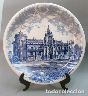 PLATO FACHADA UNIVERSIDAD DE VALLADOLID  PONTESA MADE IN SPAIN  ROYAL  CHINA  - PPORCELANA-009