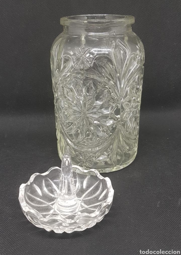 Segunda Mano: Bote de cristal con tapa - 17 cm - car112 - Foto 2 - 134714111