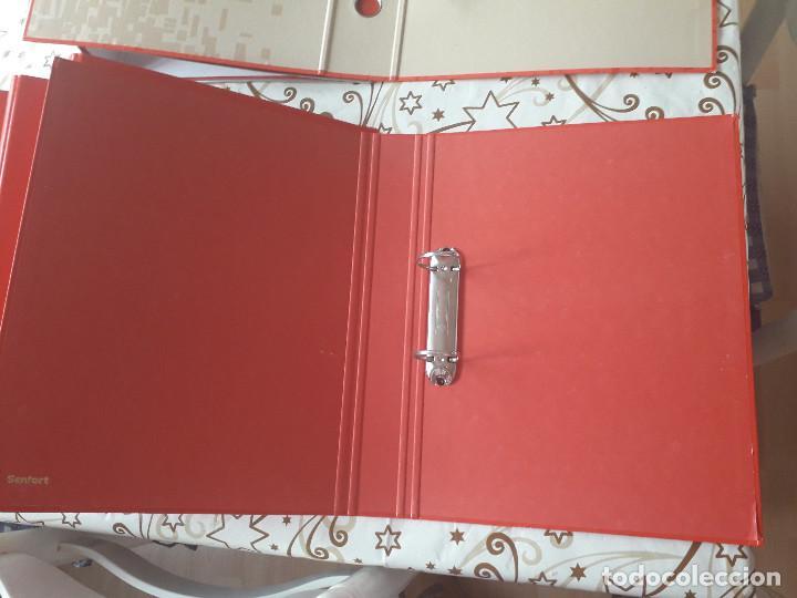 Segunda Mano: 12-00034 - pack 9 carpetas rojas de anillas, varios modelos - Foto 3 - 134943202