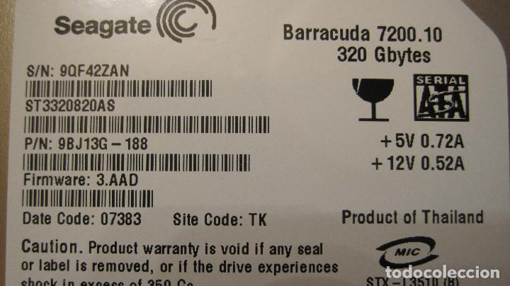 DISCO DURO HDD INTERNO PARA ORDENADOR: SEAGATE BARRACUDA 7200.10.DE 320 GBYTES. (Segunda Mano - Artículos de electrónica)