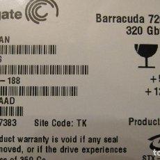 Segunda Mano: DISCO DURO HDD INTERNO PARA ORDENADOR: SEAGATE BARRACUDA 7200.10.DE 320 GBYTES.. Lote 135107902
