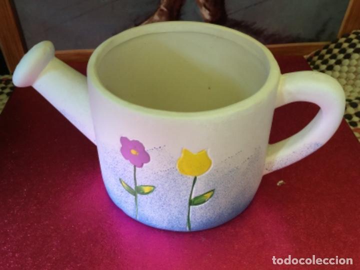Maceta regadera ceramica, usado segunda mano