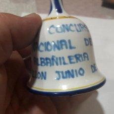 Segunda Mano: CAMPANA CERAMICA XXIII CONCURSO NACIONAL DE ALBAÑILERIA CASTELLON JUNIO DEL 1973.VER FOTOS.. Lote 136601206