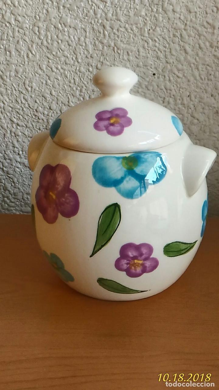 Segunda Mano: Azucarero. Pintado a mano. Flores. Marca Times. - Foto 2 - 136725522