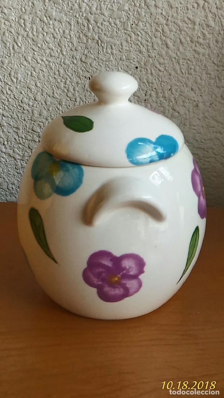 Segunda Mano: Azucarero. Pintado a mano. Flores. Marca Times. - Foto 3 - 136725522
