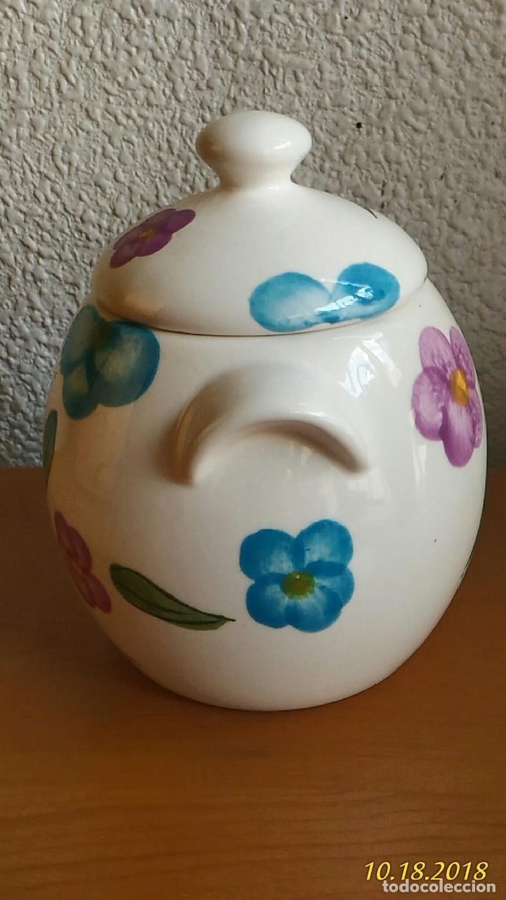 Segunda Mano: Azucarero. Pintado a mano. Flores. Marca Times. - Foto 6 - 136725522