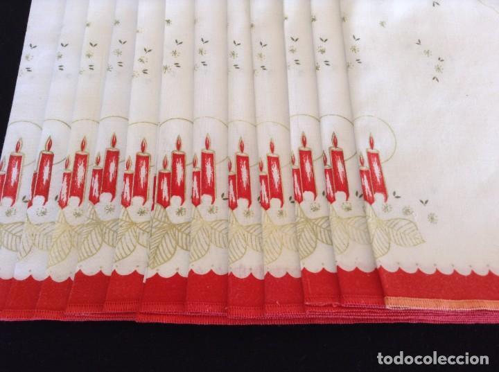 DOCE SERVILLETAS NAVIDAD (Segunda Mano - Hogar y decoración)