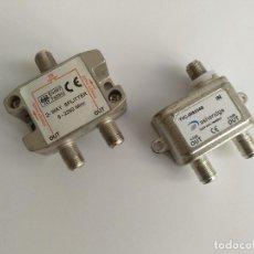 Segunda Mano: 2 CONECTORES CABLE COAXIAL DUPLICADOR ANTENA TV (SIRVE TB PARA DUPLICAR ONO A ROUTER Y TV). Lote 138274990
