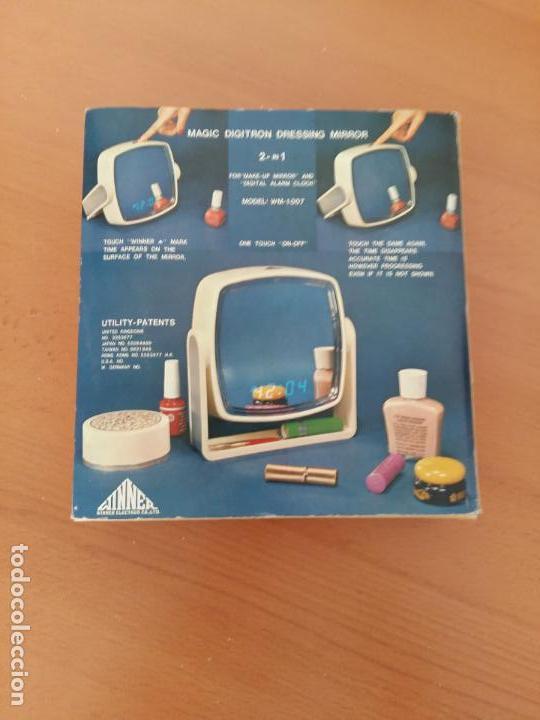ESPEJO RELOJ - MAGIC DIGITRON DRESSING MIRROR - WINNER ELECTRON - AÑOS 80 (Segunda Mano - Artículos de electrónica)