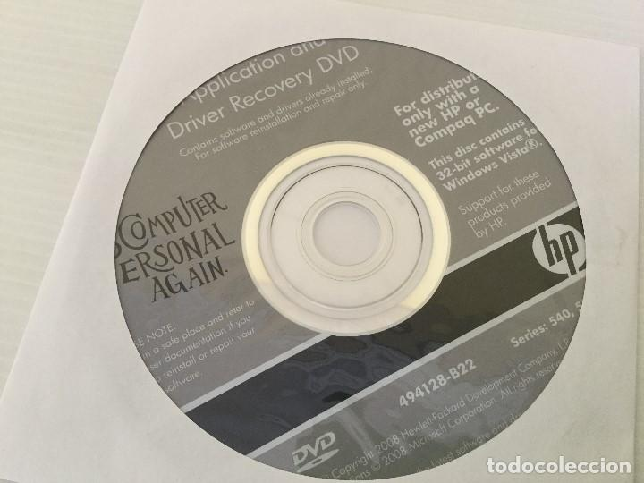 Segunda Mano: DVD Windows Vista + Driver Recovery HP Series 540, 550 - Foto 2 - 139344890