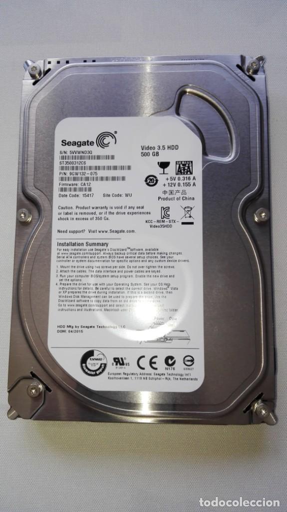 DISCO DURO DE 3.5 SEAGATE DE 500GB.EN PERFECTAS CONDICIONES. (Segunda Mano - Artículos de electrónica)