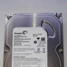 Segunda Mano: DISCO DURO DE 3.5 SEAGATE DE 500GB.EN PERFECTAS CONDICIONES.. Lote 139476818