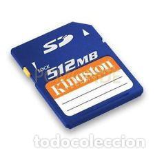 TARJETA SD 512 MB. (Segunda Mano - Artículos de electrónica)
