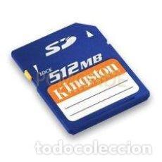 Segunda Mano: TARJETA SD 512 MB.. Lote 139507730