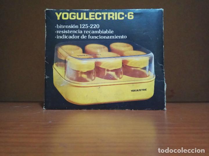 YOGULECTRIC 6 YOGURTERA VINTAGE ELECTRICA YOGUR CLAN DOR (Segunda Mano - Hogar y decoración)